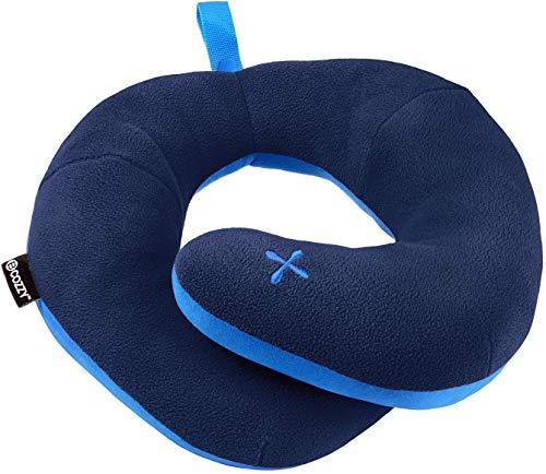 BCOZZY Kinnstütz-Reise-Nackenkissen - Unterstützt den Kopf, Hals und das Kinn bei maximalem Komfort in jeder Sitzposition. Ein patentiertes Produkt. Erwachsenen Größe, MARINEBLAU -