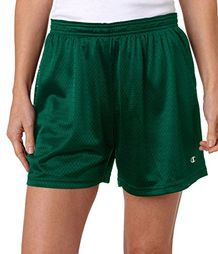 Damen Active Mesh Shorts, Athletic Dunkelgr¨¹n, XX-Large (Champion Active Short Mesh)