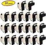 Yellow Yeti 20 Rotoli DK-11201 Etichette Adesive per Indirizzi 29 x 90mm compatibili per Brother P-Touch QL-500 QL-570 QL-700 QL-710W QL-800 QL-810W QL-820NWB QL-1100 QL-1110NWB | 400 Etichette/Rotolo