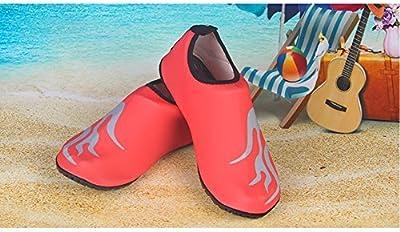 Unisex Zapatos de Agua de Aatación Calzado de Agua Calzado de Surf Calzado de Playa (naranja, L)
