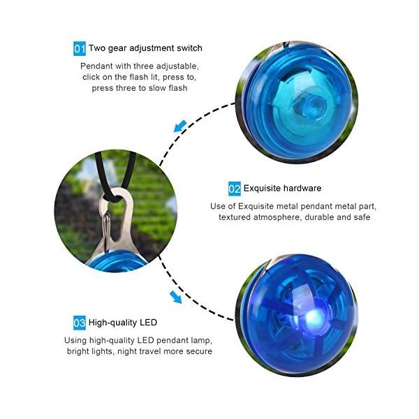 Top Munster Waterproof SpotLit Cat/dog Collar Light,LED Pet Safety Light Luminous Pendant for Outdoor Safety 3