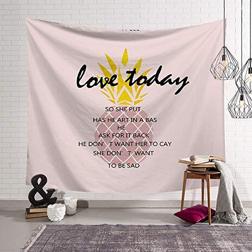 GUATANGT Apestry Wall Hanging,Tropische Früchte Ananas Böhmisches Indischen Hippie Psychedelic Modern Multi-Funktion An Der Wand 3-D-Druck Groß Home Decoration Hängende Tuch Für Wohnzimmer Badetuch -