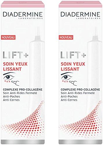 Diadermine - Lift+ - Soin Yeux Lissant - 15 ml - Lot de 2
