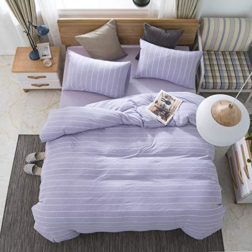 JFFFFWI Vierteiliges Set aus unbedrucktem Baumwollbettbezug, Vier Sätze einfacher Spannbetttücher, 1,2 Blatt, 210 Stück