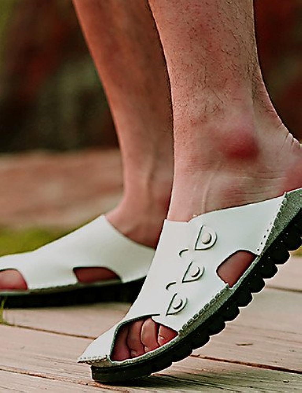 NTX/hombres de zapatos al aire libre/atlético/Casual Piel Pantuflas Negro/Marrón/Blanco, hombre, brown-us10 /  -