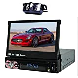 Best EinCar Camera For Cars - EinCar In-Dash Single-DIN 7 inch Motorized Flip-Up Touchscreen Review