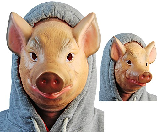 Schwein Halloween Maske (Maske Schwein Kunststoff)