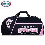 Farabi gym Fitness Sac à équipement d'entraînement, MMA, boxe, Sac, Sac fourre-tout d'entraînement Gear Sac de voyage (Noir/Rose)