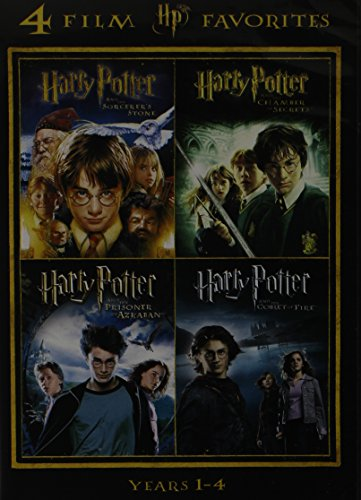 Harry Potter Years 1-4: Sorcerer's Stone / Chamber of Secrets / Prisoner of Azkaban / Goblet of Fire (Harry Potter Goblet Film)