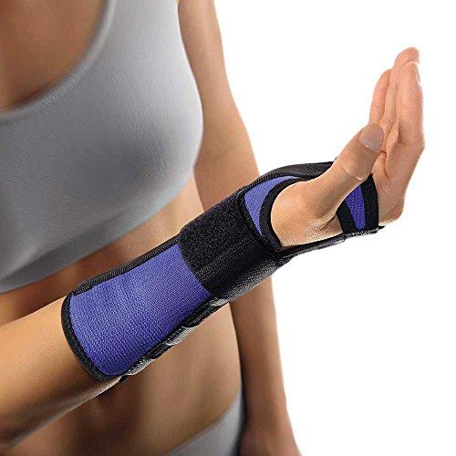 Unterarm-stütze (Bort Arm- und Handgelenkschiene Unterarm Bandage Handgelenk Stütze Alu Schiene, blau, S, Links)