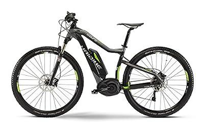 E-Bike Haibike XDURO HardNine RX 400Wh/36V/250W 10-G 29' Herren in schwarz/grau/lime matt Modell 2015