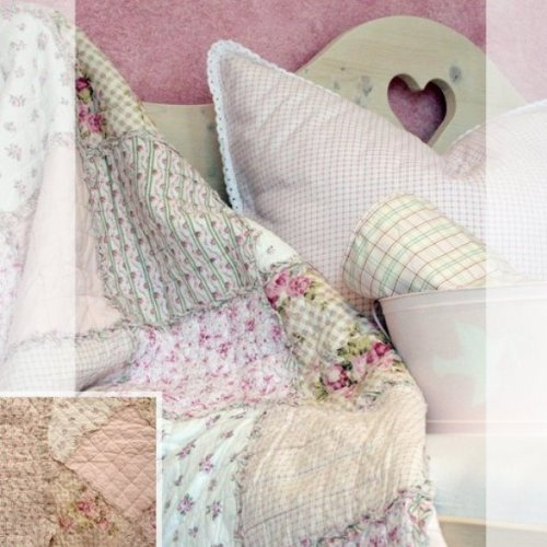 Tagesdecke Plaid Quilt Emily Rose pink 180 x 260