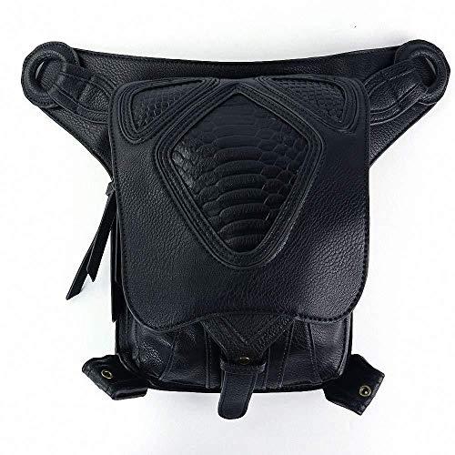 Adegk Gothic Leder Umhängetasche Steampunk Fashion Hüfttasche Outdoor Travel Männer Und Frauen Modelle Motorrad Tasche