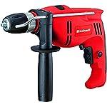 Einhell TC-ID 710 E - Taladro percutor, interruptor de bloqueo, portabrocas 1.5-13 mm, 710 W, 230 V, color rojo y negro