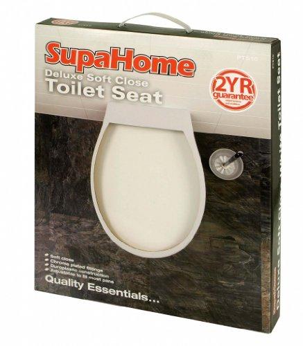 SupaHome Deluxe souple Fermer blanc Siège de toilette