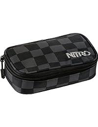 Nitro Pencil Case XL inkl. Geo Dreieick & Stundenplan, Federmäppchen, Schlampermäppchen, Faulenzer Box, Federmappe, Stifte Etui
