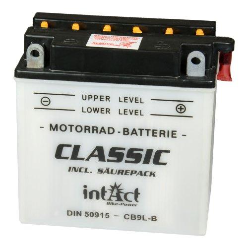 Intact Bike-Power Classic Motorradbatterie CB9L-B 9Ah (DIN 50915) YB9L-B