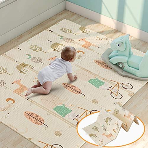 Tapis de jeu pour bébé, mousse de tapis de jeu XPE mousse imperméable à l'eau extra large et...