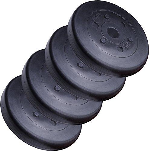 ScSPORTS 20 kg Hantelscheiben-Set Kunststoff 4 x 5 kg Gewichte 30/31 mm Bohrung