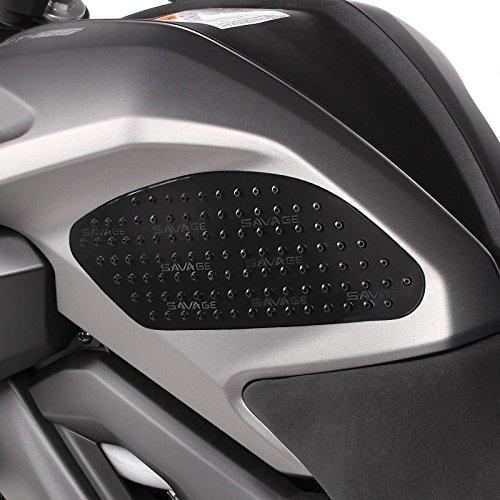 Protección lateral de depósito Suzuki Bandit 600/650/1200/1250/S, B-King, Gladius 650, GSR 600/750, Hayabusa, SV 650/1000/S, V-Strom 1000/250/650/XT Motea Grip M negro
