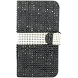 MM iPhone 6 Full Bling Wallet Case with 3 Credit Card Slots - Black