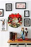 Coxeer Weihnachtskranz, Türkranz Weihnachten Weihnachtsdeko Kranz Weihnachtsgirlande mit Kugeln Handarbeit Weihnachten Garland Deko-Kranz (Mehrfarbig-Bell) - 8