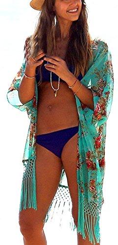 aimerfeel Plage Cover Up Femmes en vrac Beachwear Maillots de bain Bikini Cover-up Robe de plage, taille unique au Royaume-Uni 38-46, vert