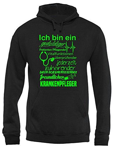 Angry Shirts Ich Bin EIN geduldiger, Patienten Pflegender, Vitalfunktion überprüfender. freundlicher Krankenpfleger Pfleger - Herren Hoodie