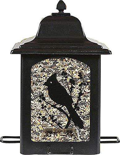 Opus [Perky-Pet] Futterspender für Gartenvögel im Laternenstil – Vogelfuttersilo aus Metall mit 4 Futterplätzen | Füllkapzität 1,4 kg Vogelfutter | Mod. 363