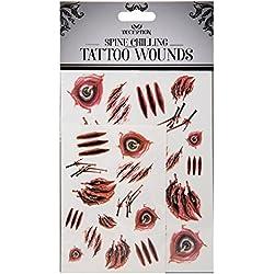 Accesorio para disfraz de tatuajes temporales de Halloween