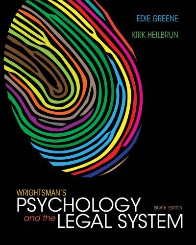 Wrightsman's Psychology and the Legal System 8th by Greene, Edith, Heilbrun, Kirk (2013) Hardcover