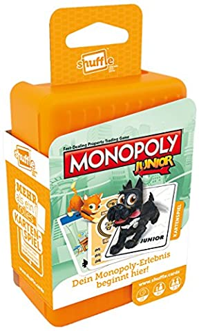ASS Altenburger 22502779 - Shuffle Kartenspiel, Monopoly Junior