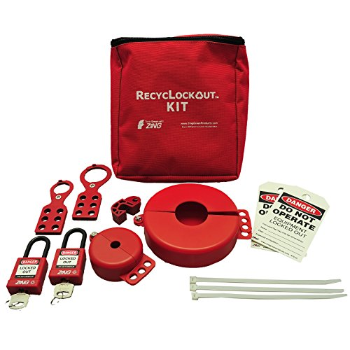 ZING 7120 RecycLockout Lockout Tagout Kit, 12 Component, Valve Lockout by Zing Green Products