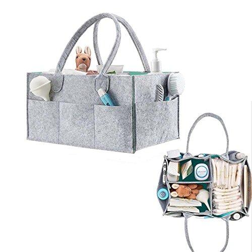 QICI Baby Windel Caddy und Spielzeug Lagerung Organizer | Baby Dusche Geschenk Korb für junge Mädchen | Neugeborene Auto Reise Korb (Jungen Organizer Spielzeug)
