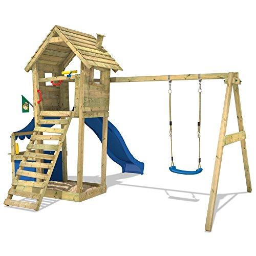 WICKEY Spielturm Smart Shop Kletterturm Schaukel Rutsche Sandkasten