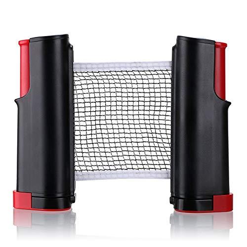WXH 2 STÜCKE Tragbare Halter Ping Pong Net, Versenkbare Tischtennisnetze Pfosten Set Ersatz, Einstellbare Jeder Tisch Überall, Indoor Outdoor Spiel (Net Pong Table Ping Tennis)