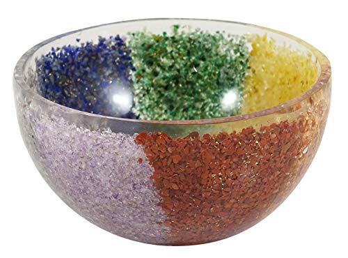 HARMONIZE Talladas espiritual curativo de la Mano Del tazón de Fuente de energía de Las Piedras preciosas Minérale Générateur