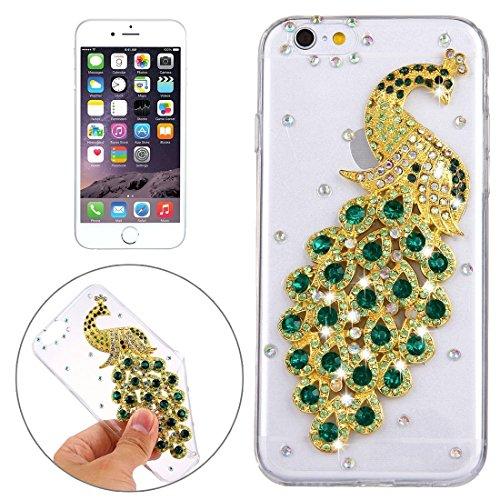 GHC Cases & Covers, Für iPhone 6 u. 6s Diamant verkrustete Gläser Katze-Perlen-Bell-Muster weiche TPU schützende Fall-rückseitige Abdeckung ( SKU : IP6G5600N ) IP6G5600L