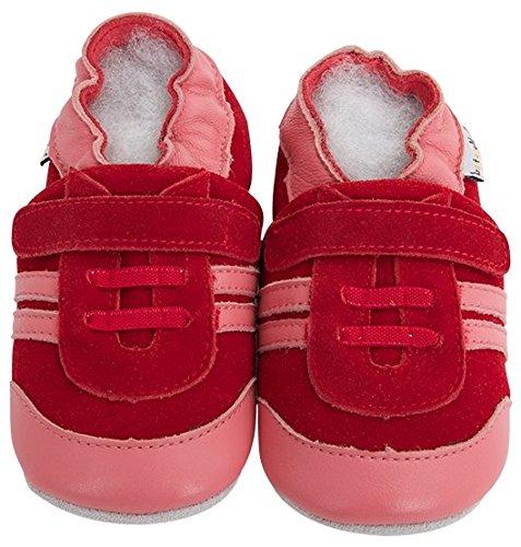 Lait et miel piel unidad lernschuhe patucos bebé zapatos en mocassins Diseño morado Talla:18 - 24 Monate FYimDR