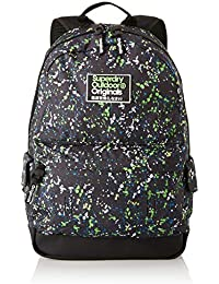 Superdry Herren Mini Splatter Montana Rucksack, Schwarz (Black/Green, 30x45x15 Centimeters