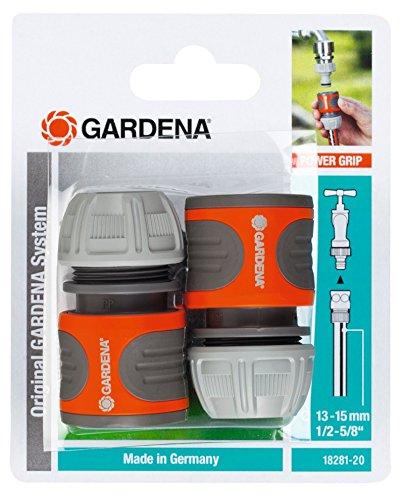 GARDENA Schlauchverbinder-Satz 13 mm (1/2″) und 15 mm (5/8″): Steckverbinder für den Schlauchanfang, schneller und einfacher Anschluss (18281-20)