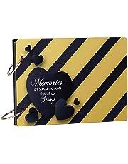100yellow Memories Theme Wooden Photo Album Scrapbook Memory Book, Romantic Love Scrapbook Album, Forever Love