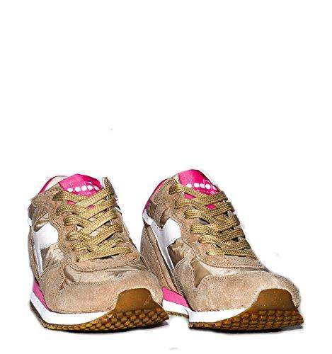 Calzature Donna DIADORA trident sneaker bassa con riporti in pelle scamosciata, tomaia in canvas, due lacci colorati Diadora