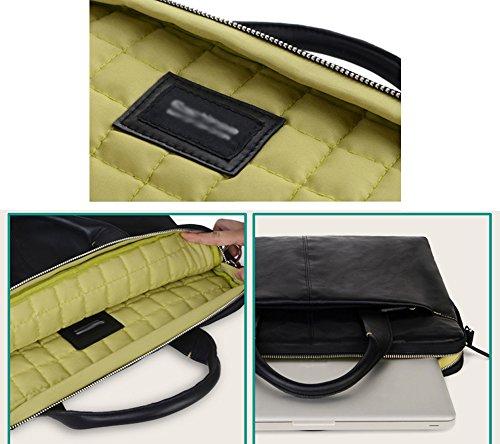 YiJee Borsa a Tracolla Ventiquattrore Custodia Sleeve per Laptop 15 Pollice Nero 2