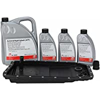 Ölwechsel- Kit für 6-Gang Automatikgetriebe 6HP26, 6HP28, 6HP32 Ölwanne mit Dichtung und Filter, 8 Liter ATF Getriebeöl + Dichthülse