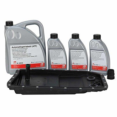 Kit cambio olio per cambio automatico a 6 marce 6HP26, 6HP28, 6HP32 con guarnizione e filtro, 8 litri di olio per cambio ATF + guarnizione