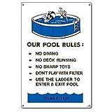 Poolmaster 41370dem Pool Vorschriften Schild für privaten Pools