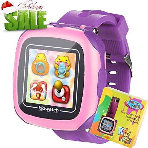 Juego Niños Smart Watch para Niñas Niños Regalos de Pascua con Cámara 1.5 '' Touch 10 Juegos Podómetro Reloj despertador Reloj Smartwatch Reloj de pulsera Monitor de salud (Rosa)