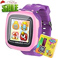Jeu Enfants Smart Watch pour enfants Garçons filles Jouets Montre Poignet avec écran tactile Appareil photo Jeux Timer Réveil Podomètre Smartwatch Wristwatch Wristband