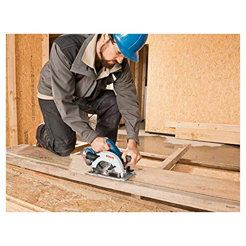 Bosch Professional GKS 18 V-LI Akku-Kreissäge, Schnitttiefe 90/45 Grad, 51/40 mm, stufenlose Schnitttiefeneinstellung in L-Boxx ohne Akku und Ladegerät, 1 Stück, 060166H006 - 5